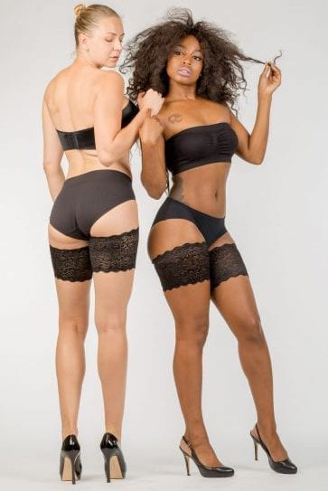 Black lace Bandelettes, model Dolce