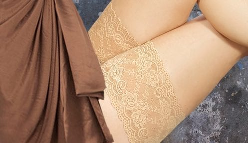 Sexy lace Bandelettes, model Onyx, help to prevent the painful thigh chafing and rubbing!