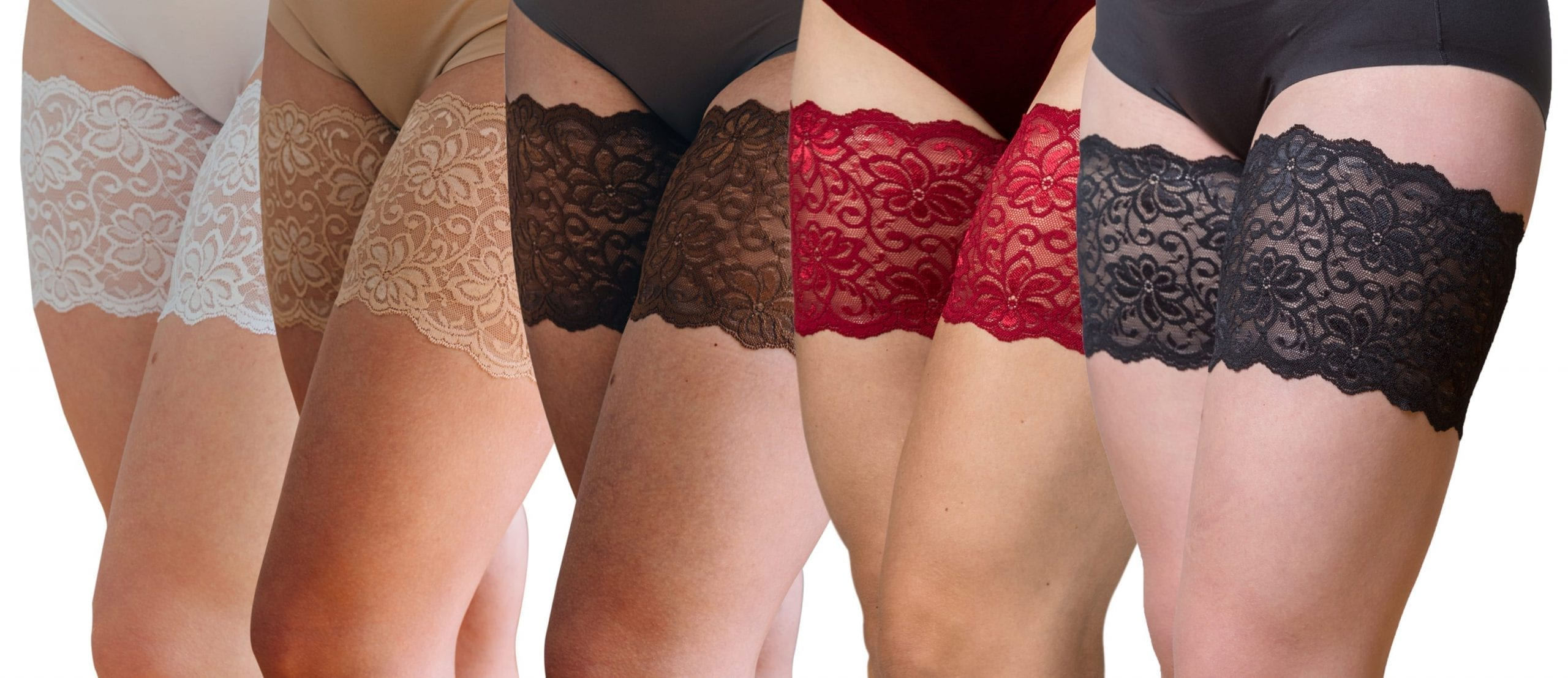 The original bandelettes lace bands in 5 colours,