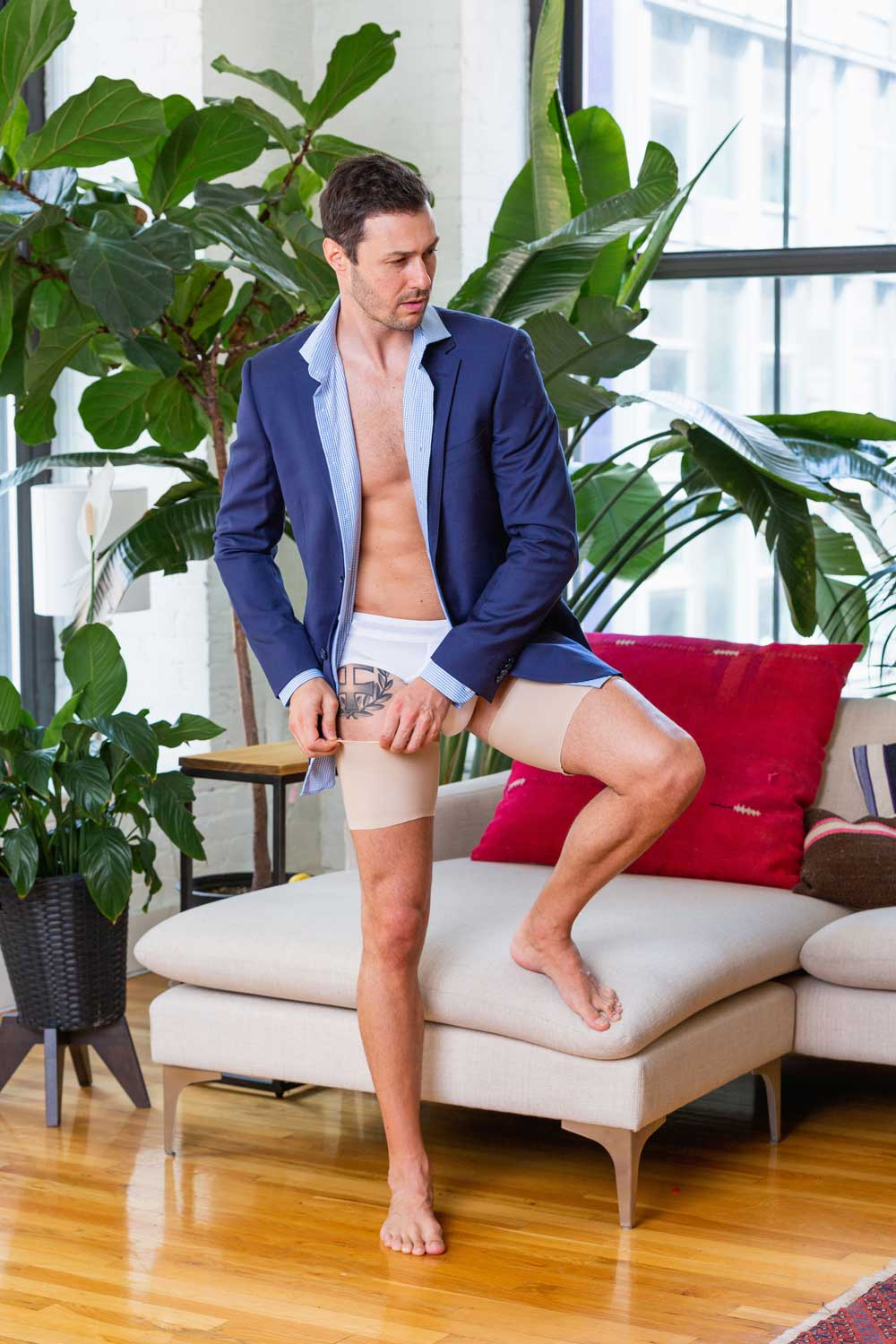 Comfortable anti chafing bands for men by Bandelettes.