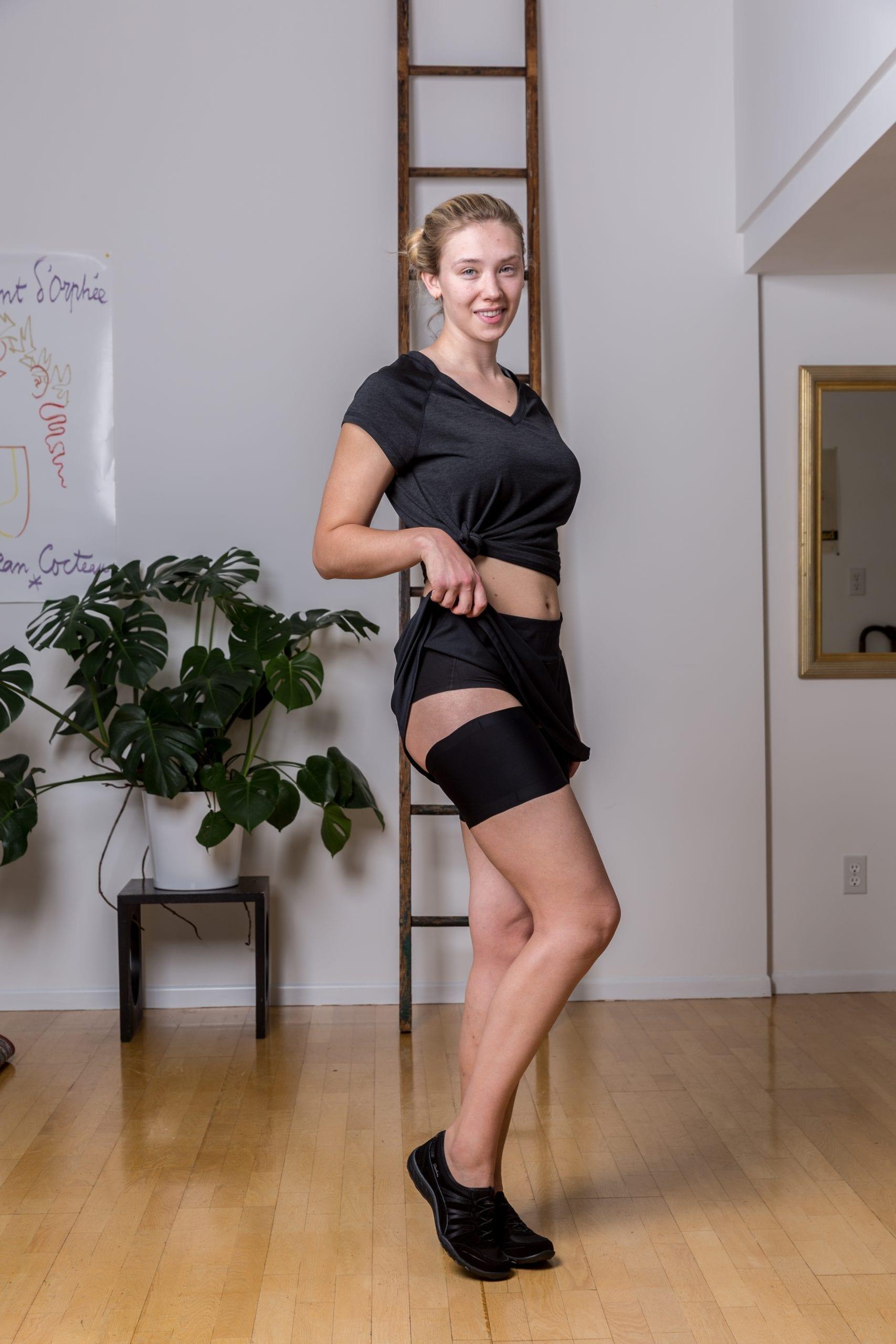 Ultra soft black thigh bands